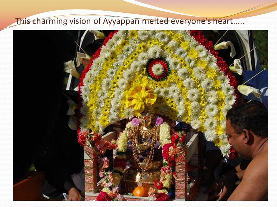 This charming vision of Ayyappan melted everyone's heart.....
