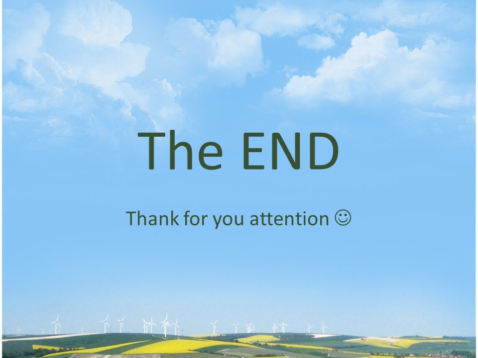 Thank for you attention 