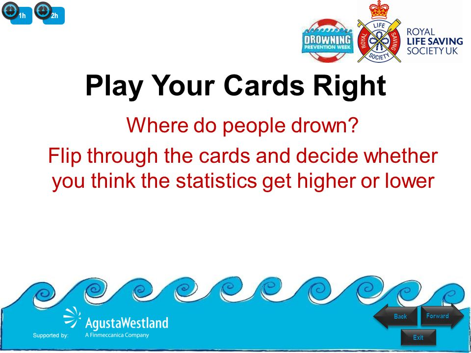Play Your Cards Right Where do people drown