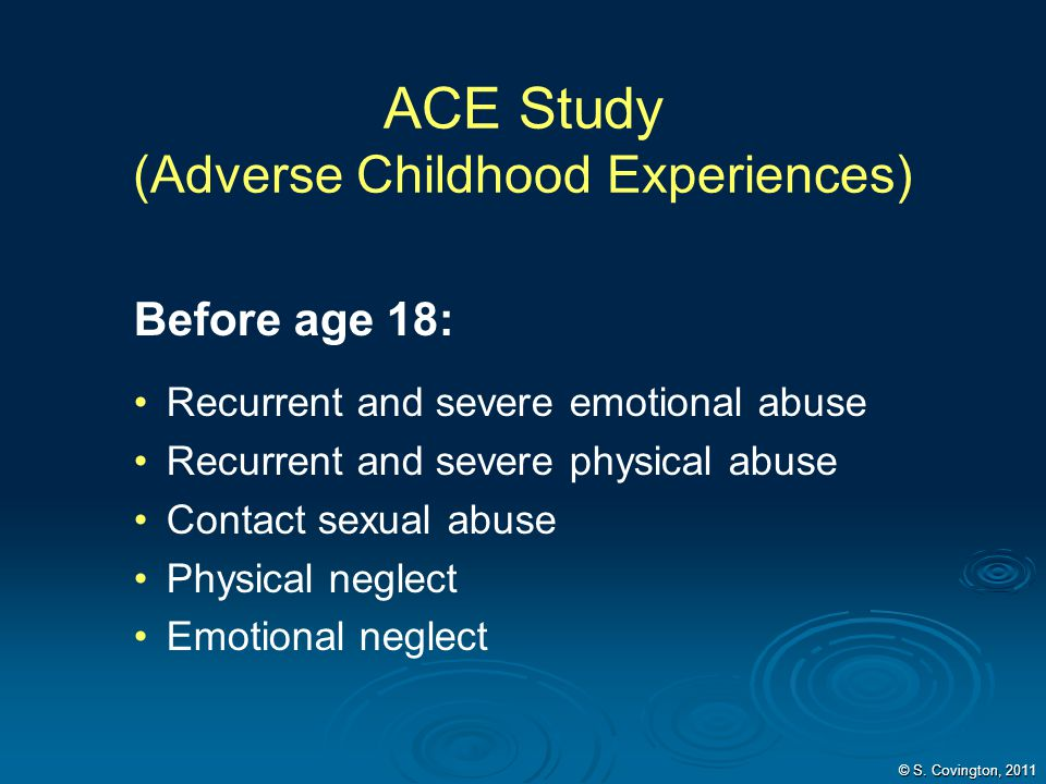ACE Study (Adverse Childhood Experiences)
