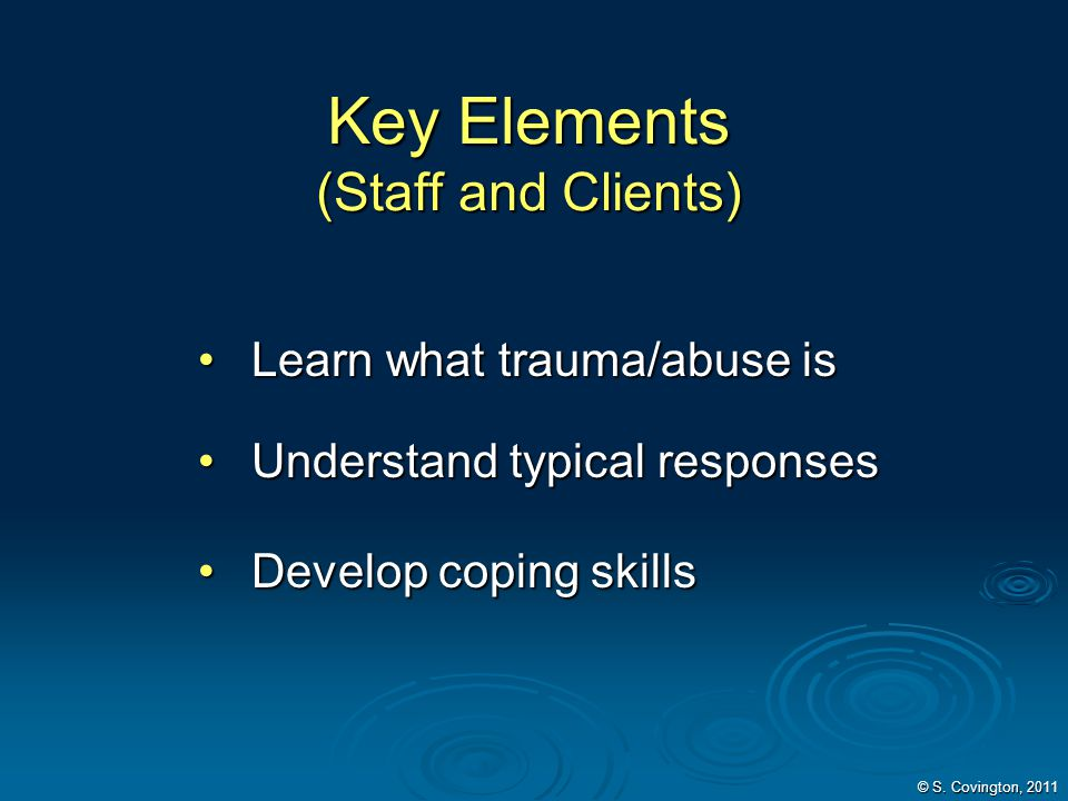 Key Elements (Staff and Clients)