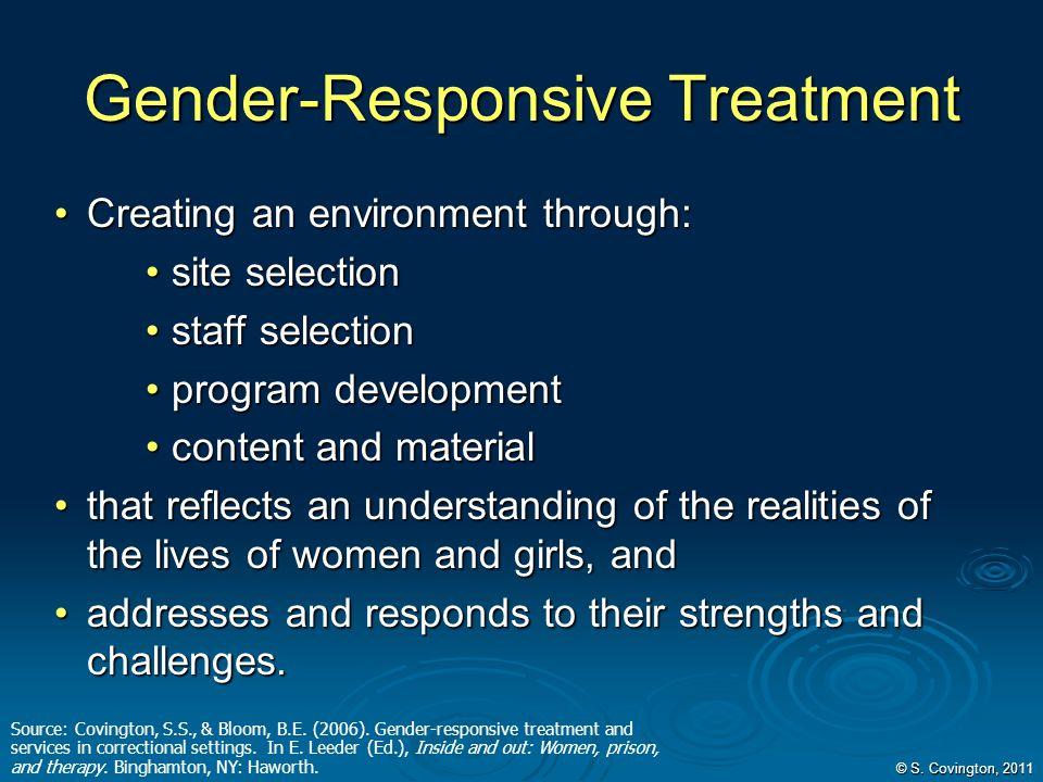 Gender-Responsive Treatment
