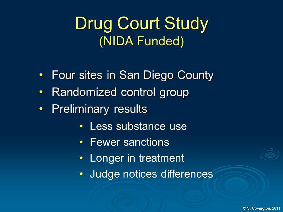 Drug Court Study (NIDA Funded)