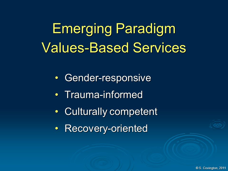 Emerging Paradigm Values-Based Services