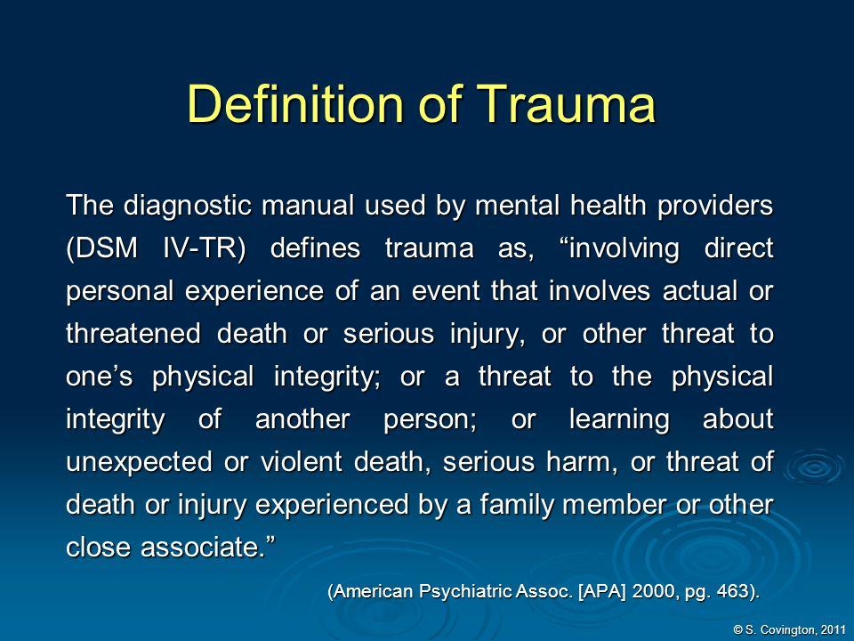 Definition of Trauma