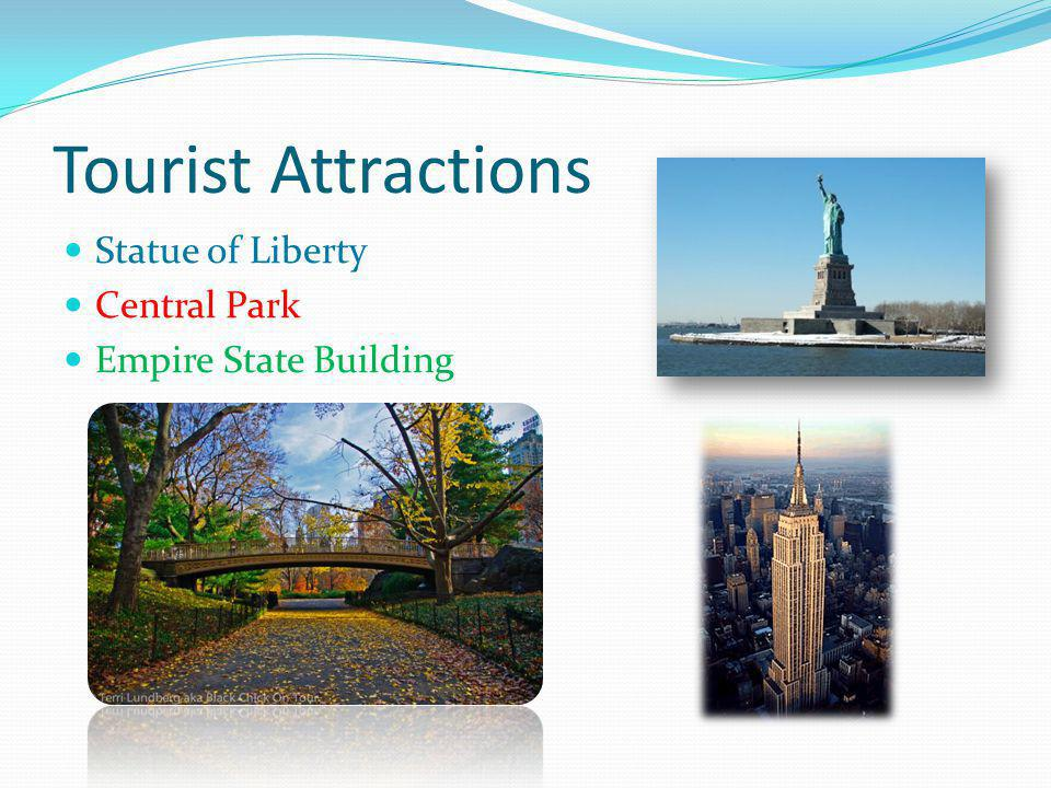 Tourist Attractions Statue of Liberty Central Park