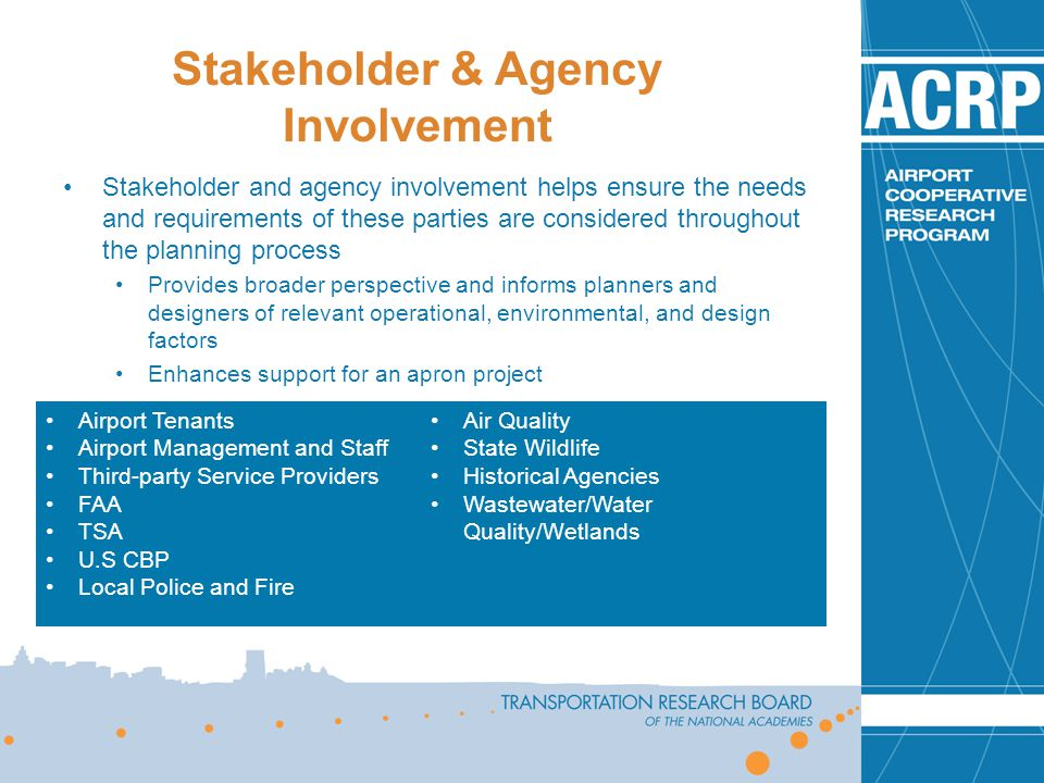 Stakeholder & Agency Involvement