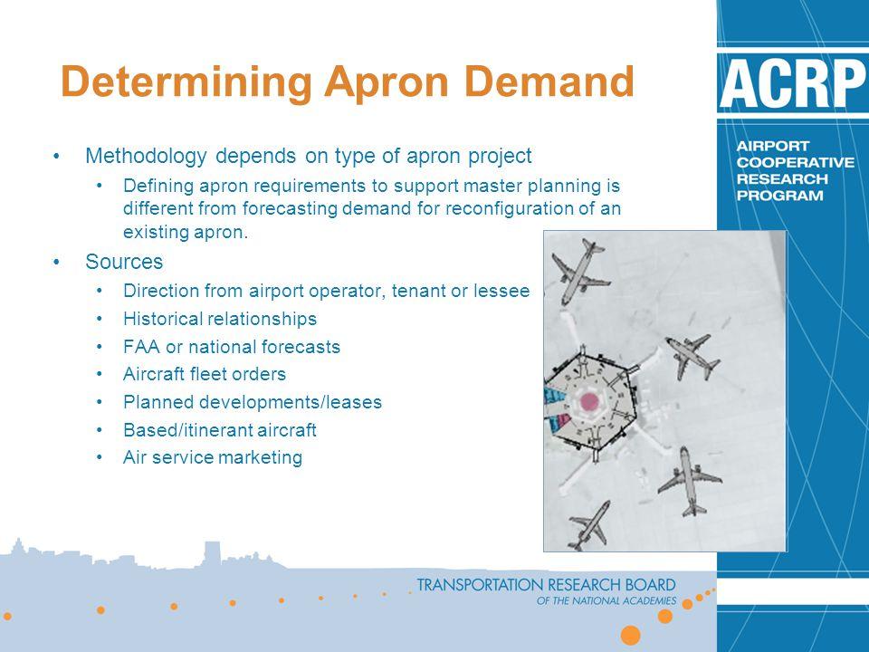 Determining Apron Demand