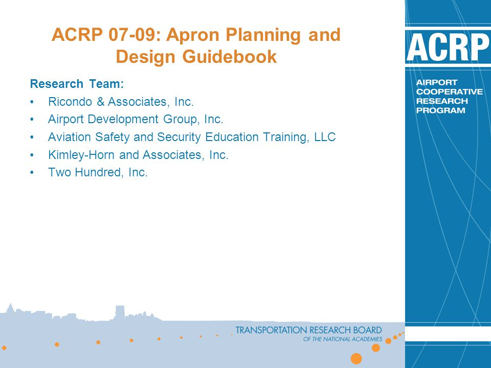 Acrp 07 09 apron planning and design guidebook ppt video online download Airport planning and design course