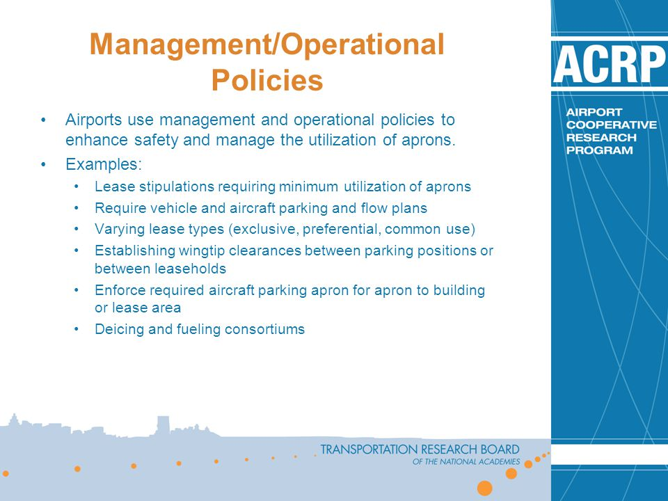 Management/Operational Policies