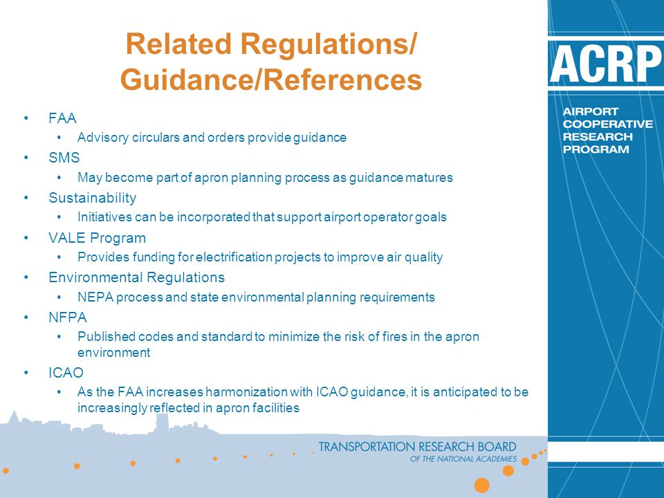 Related Regulations/ Guidance/References