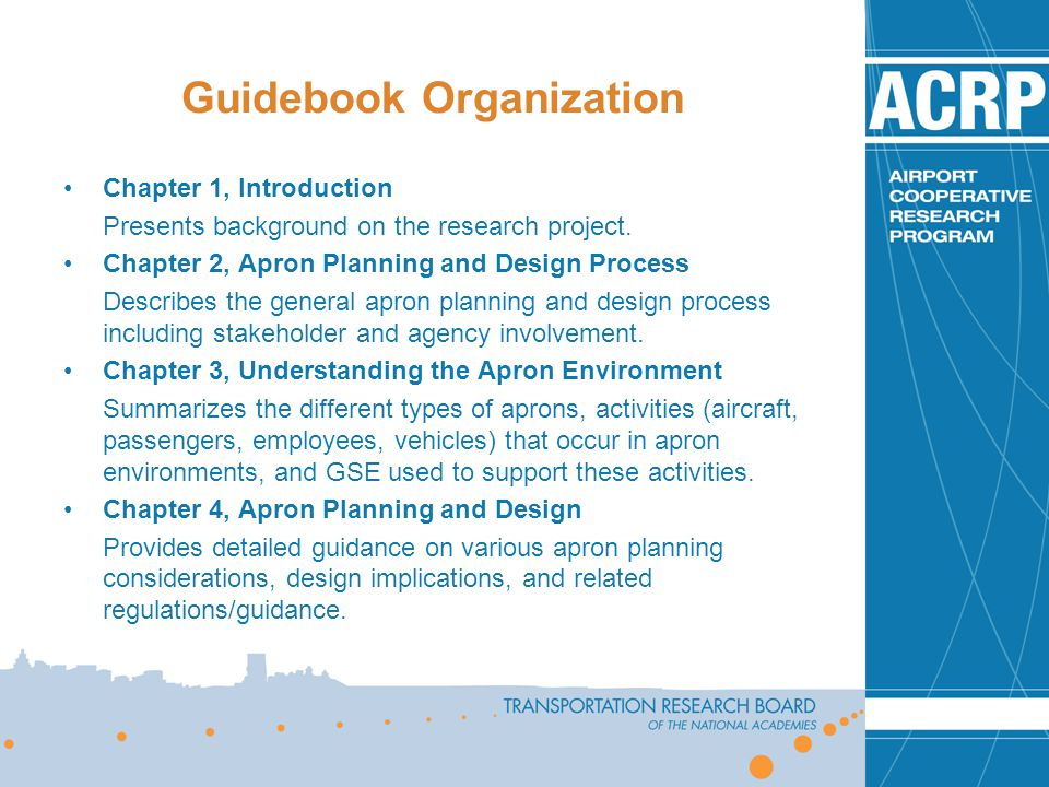 Guidebook Organization
