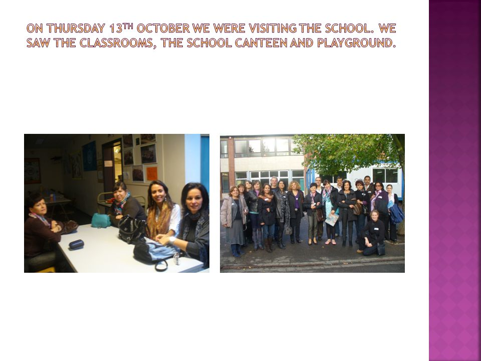 On Thursday 13th October we were visiting the school