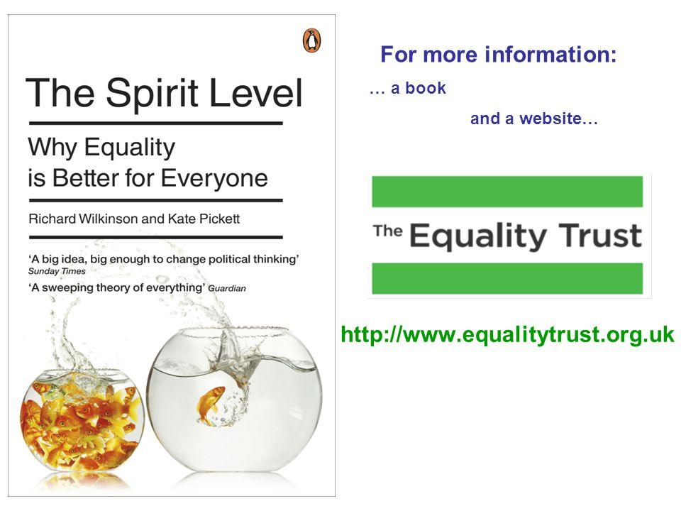 For more information: http://www.equalitytrust.org.uk
