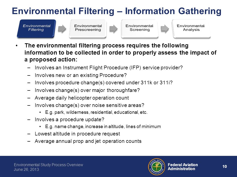 Environmental Filtering – Information Gathering
