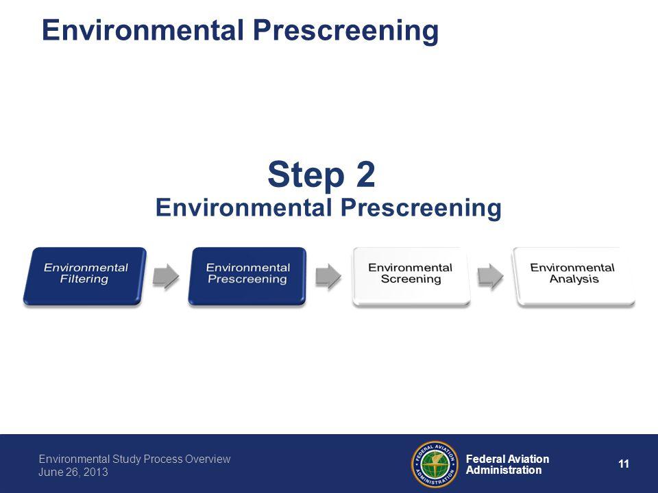 Environmental Prescreening