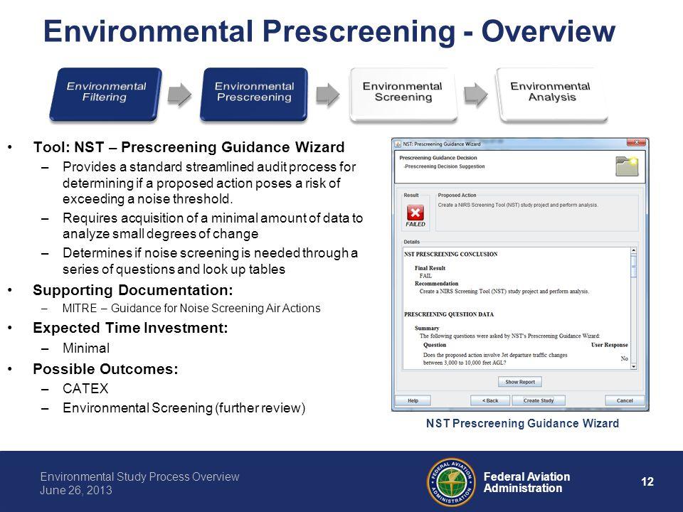 Environmental Prescreening - Overview