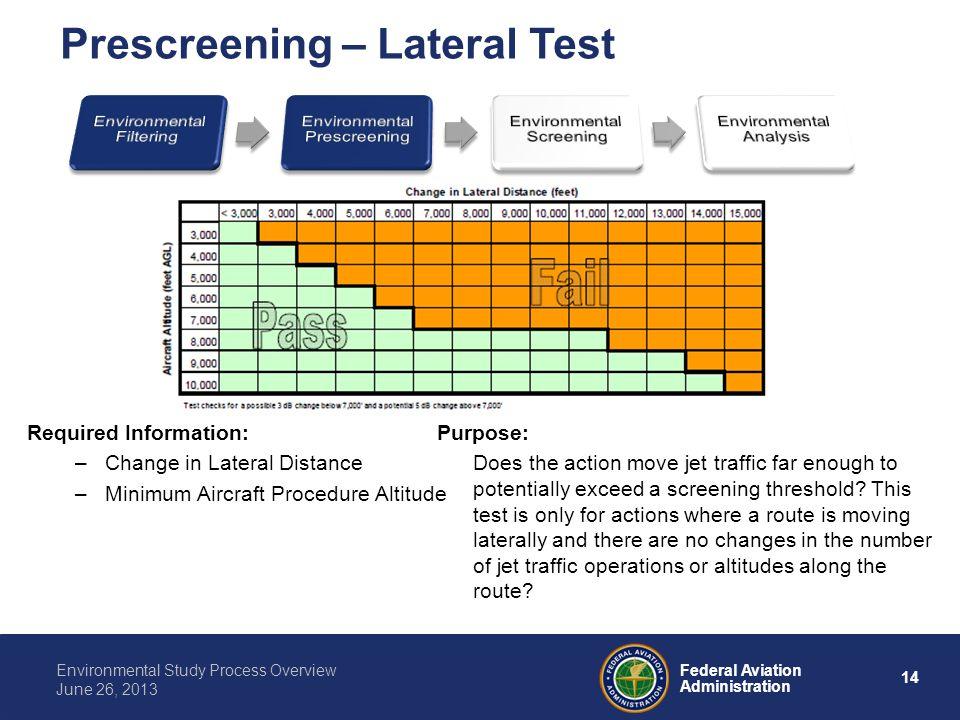 Prescreening – Lateral Test