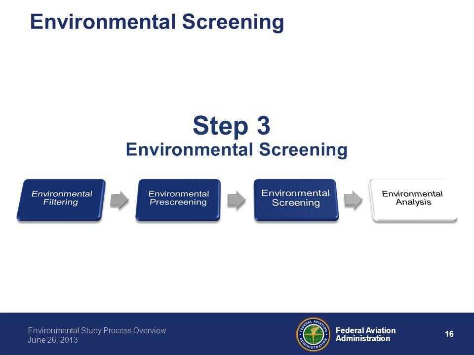 Environmental Screening