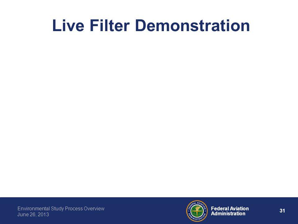 Live Filter Demonstration