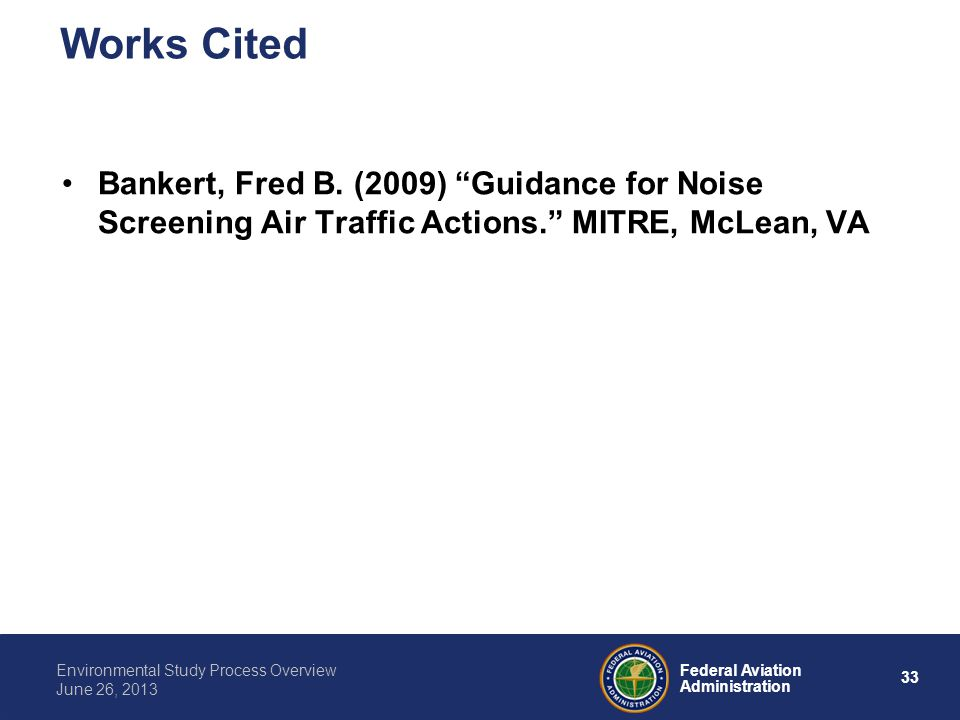 Works Cited Bankert, Fred B.