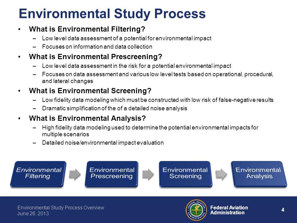 Environmental Study Process