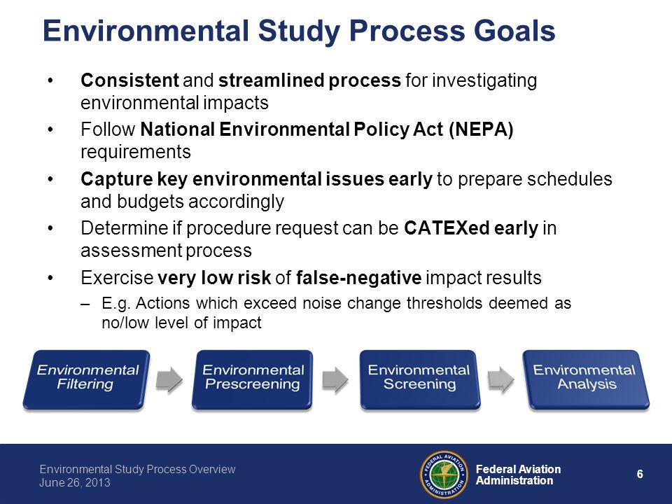Environmental Study Process Goals