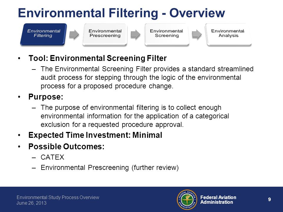 Environmental Filtering - Overview