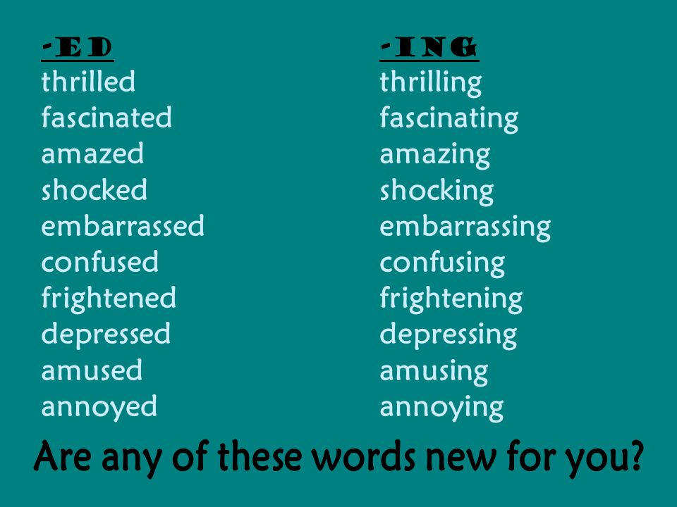 Are any of these words new for you