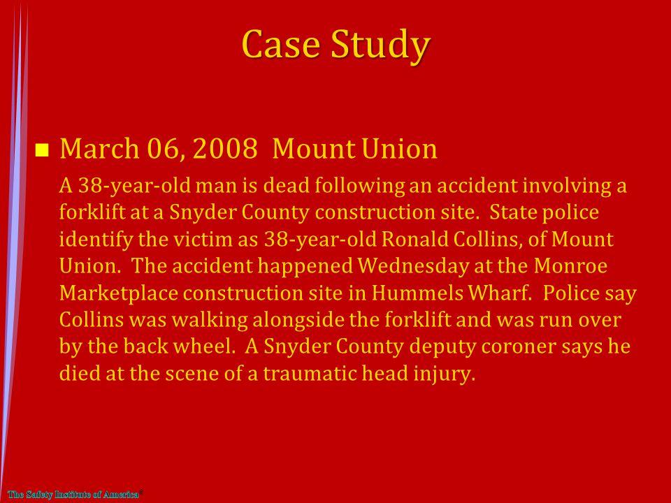 Case Study March 06, 2008 Mount Union