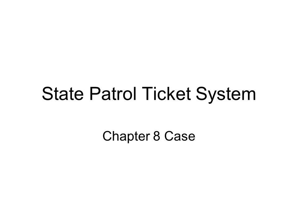 State Patrol Ticket System