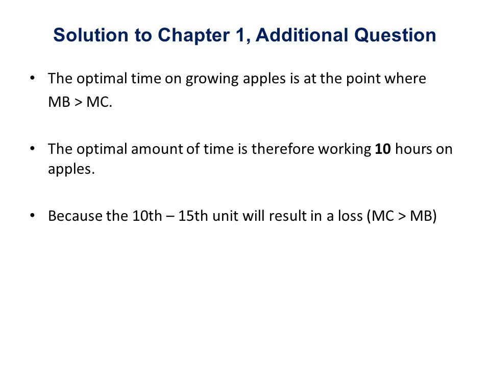 Solution to Chapter 1, Additional Question
