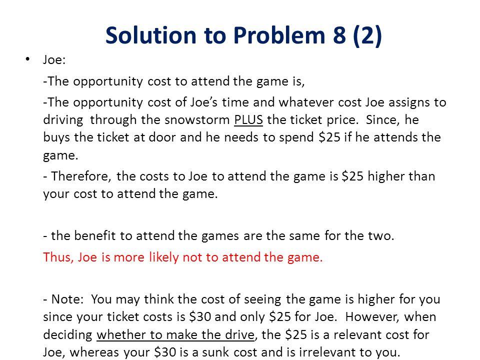 Solution to Problem 8 (2) Joe: