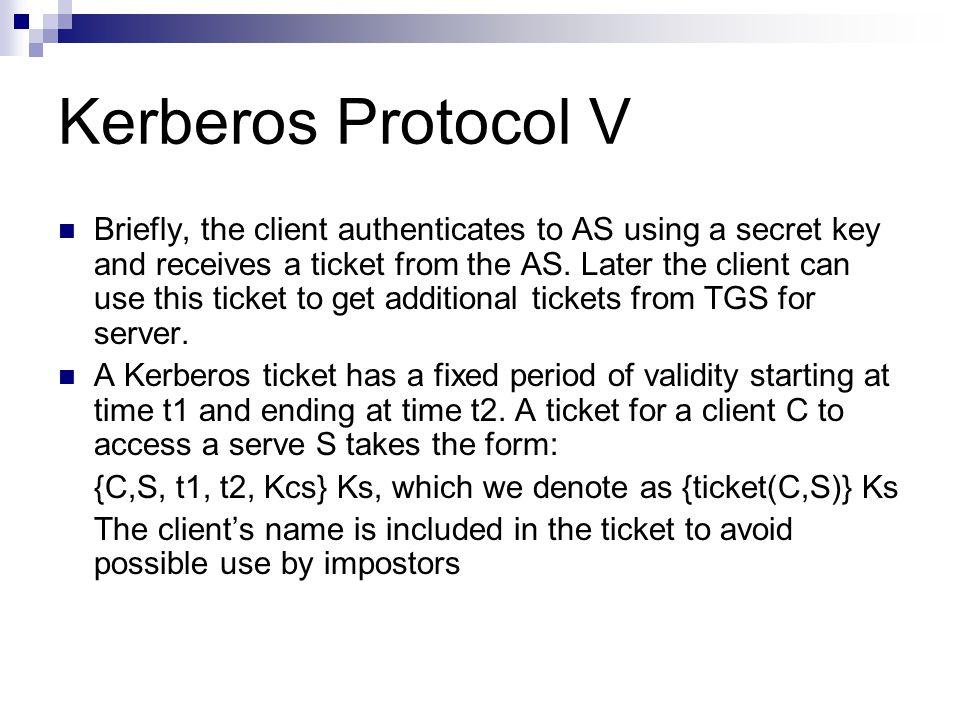 Kerberos Protocol V