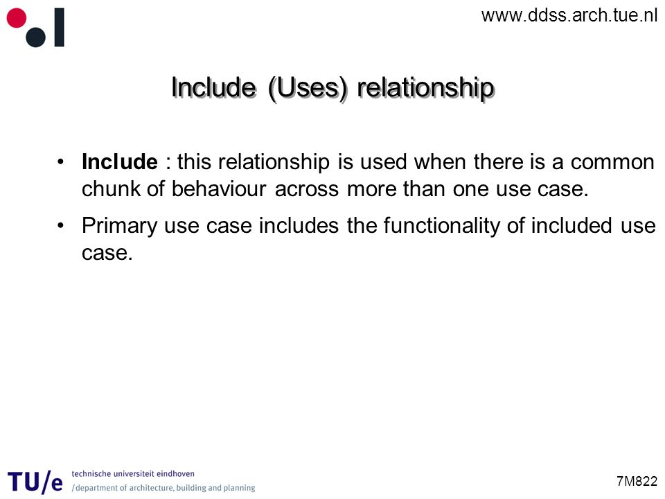 Include (Uses) relationship