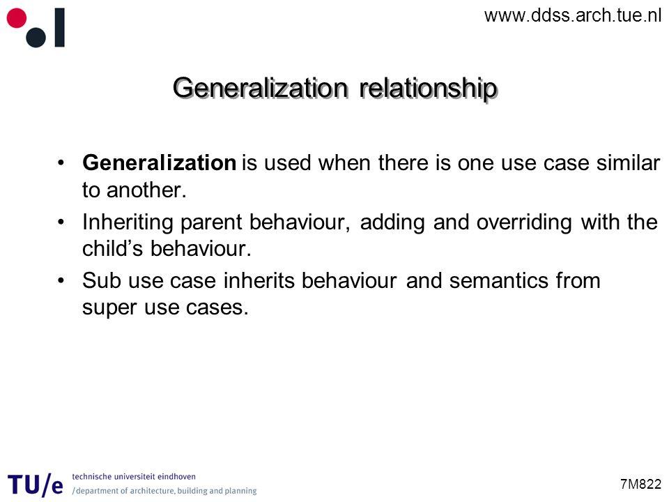 Generalization relationship