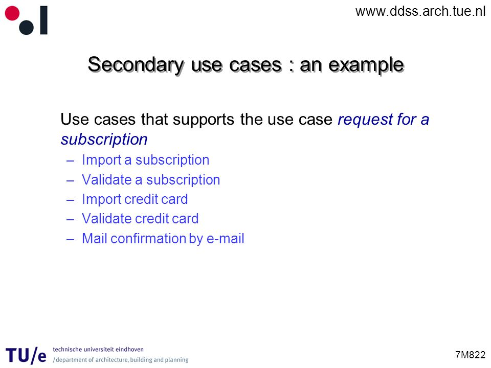 Secondary use cases : an example