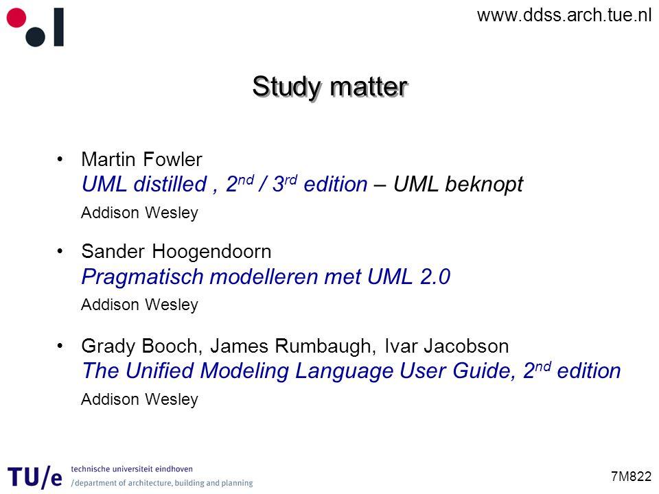 Study matter UML distilled , 2nd / 3rd edition – UML beknopt