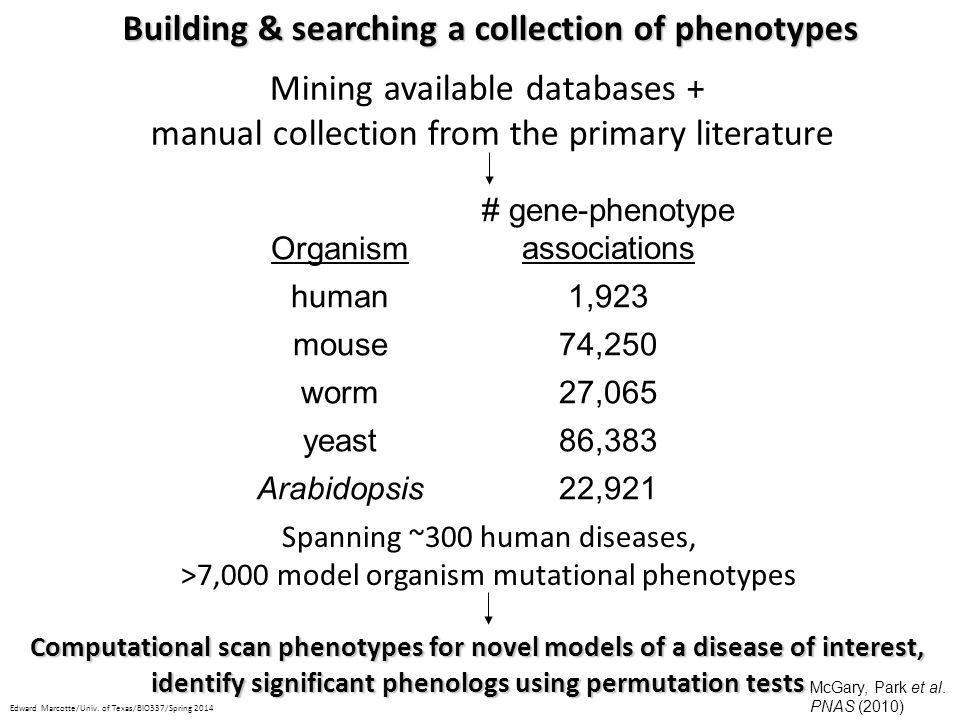 Building & searching a collection of phenotypes