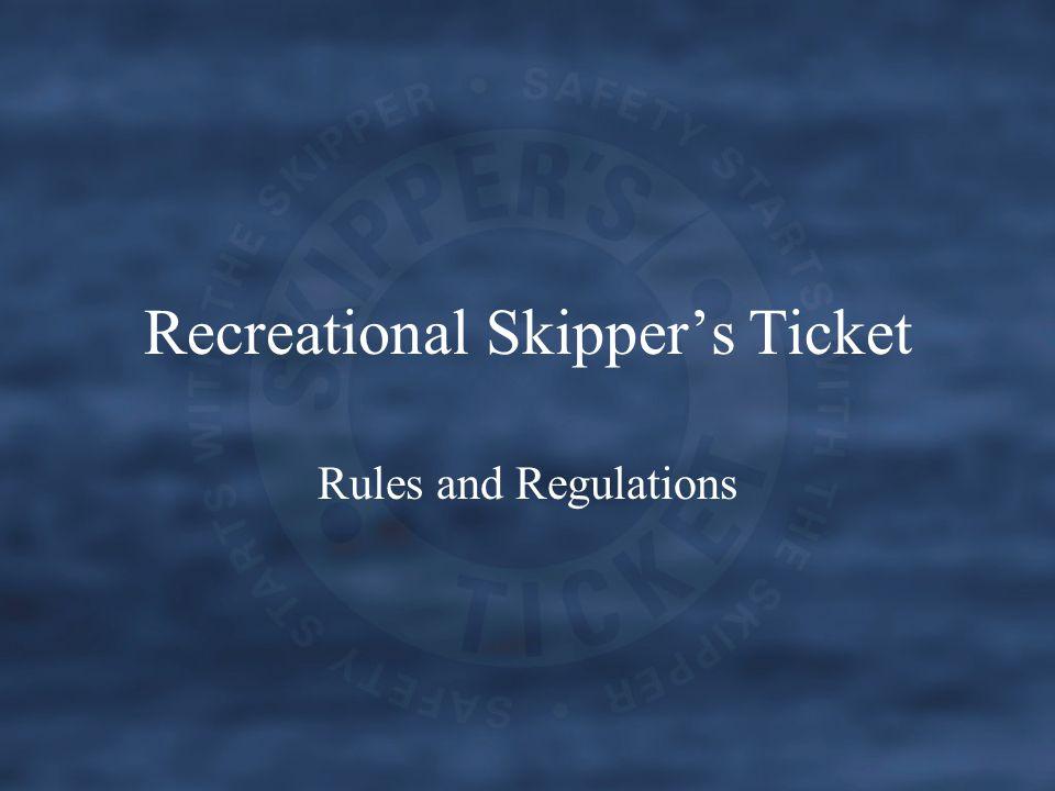 Recreational Skipper's Ticket