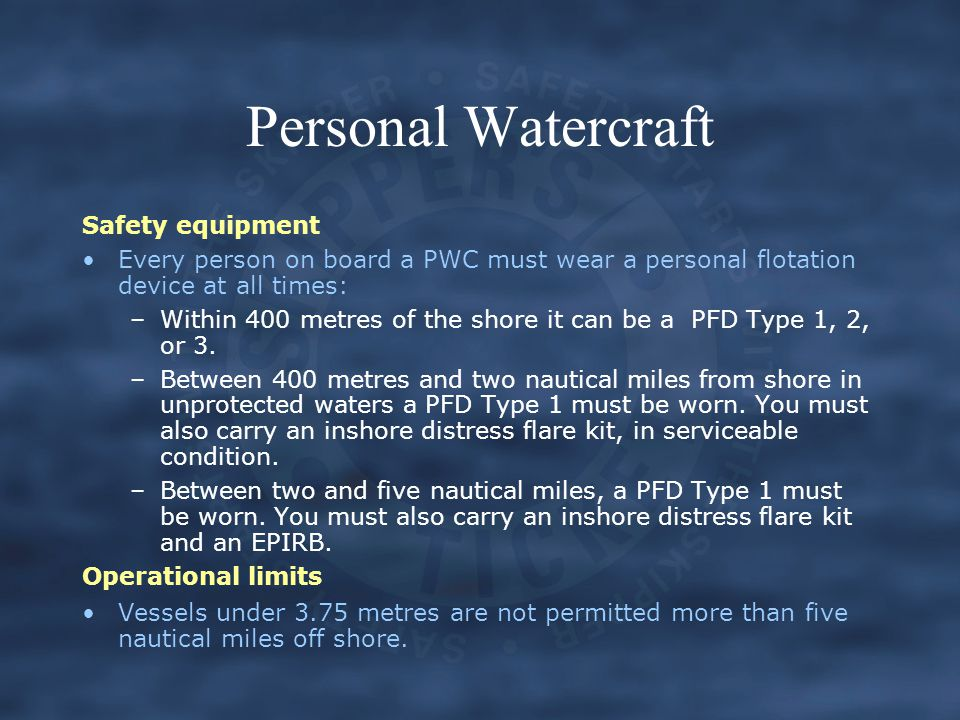Personal Watercraft Safety equipment