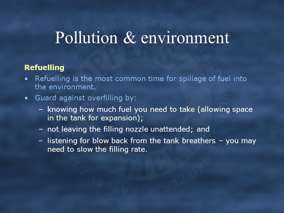 Pollution & environment
