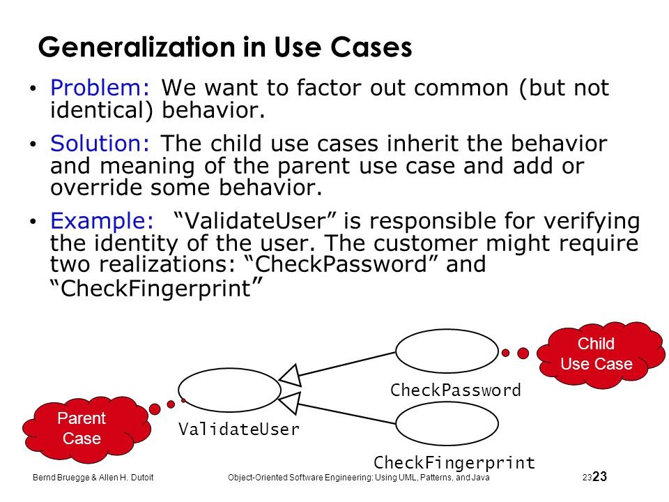 Generalization in Use Cases