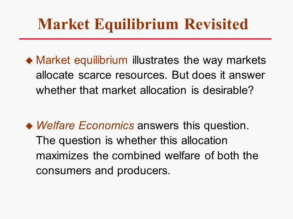 Market Equilibrium Revisited