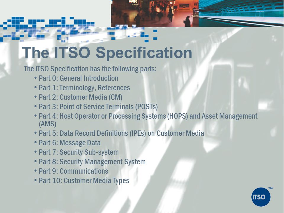The ITSO Specification