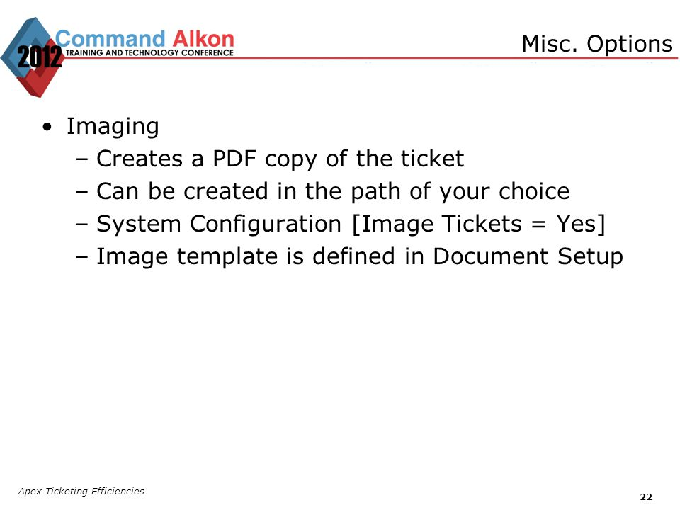 Creates a PDF copy of the ticket