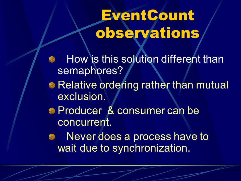 EventCount observations