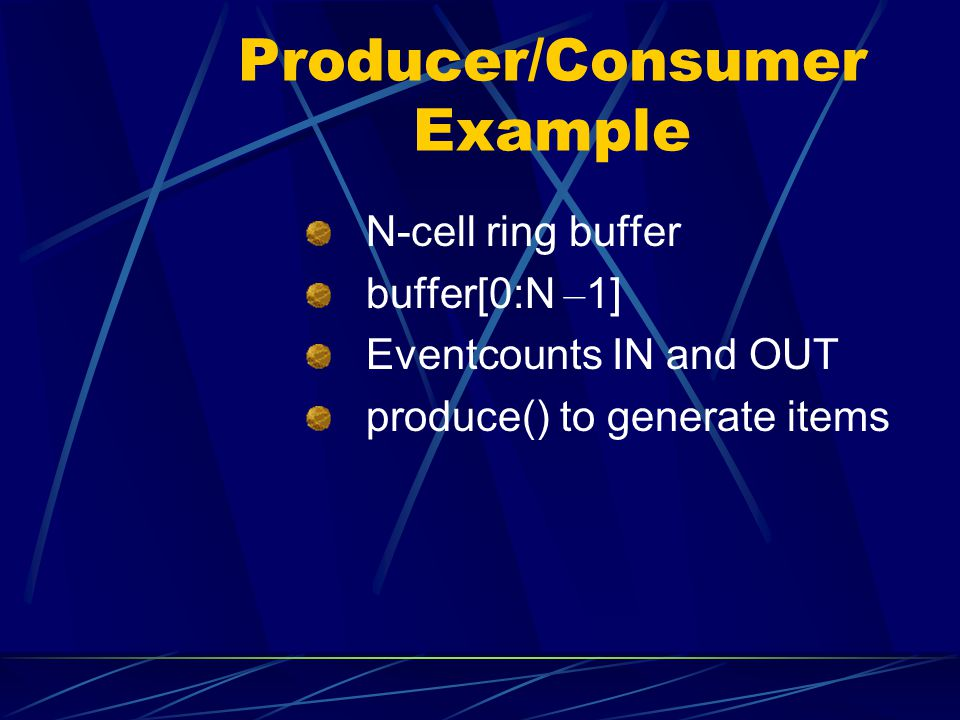 Producer/Consumer Example