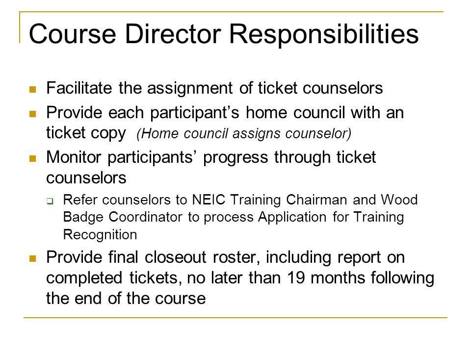 Course Director Responsibilities