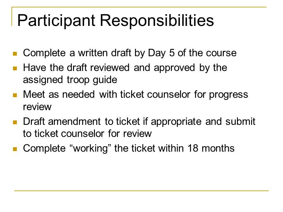 Participant Responsibilities